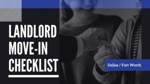 Landlord Move-In Checklist for Dallas