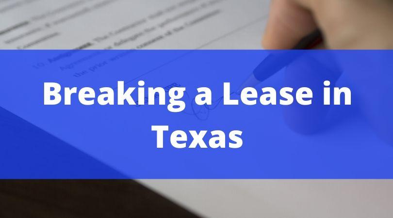 breaking a lease tx
