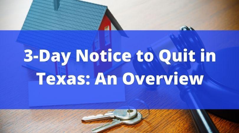 texas notice to quit